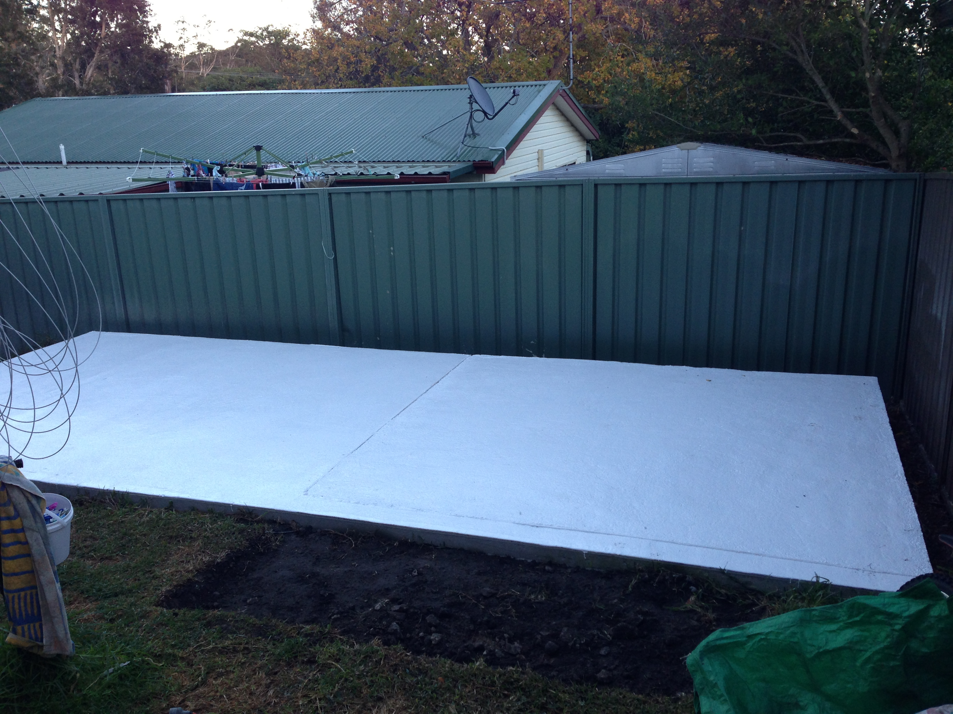 Slab ready for new garage